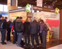 Compassion France's stall at le Salon agricultural fair
