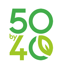 50by40 logo - the words 50by40