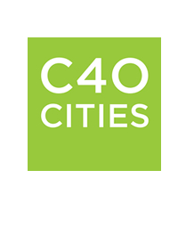 C40 Cities logo - name on a green background